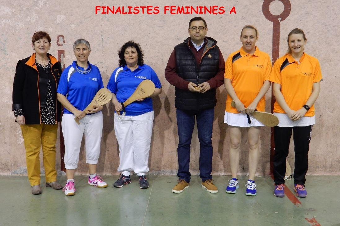 Finalistes Féminines A