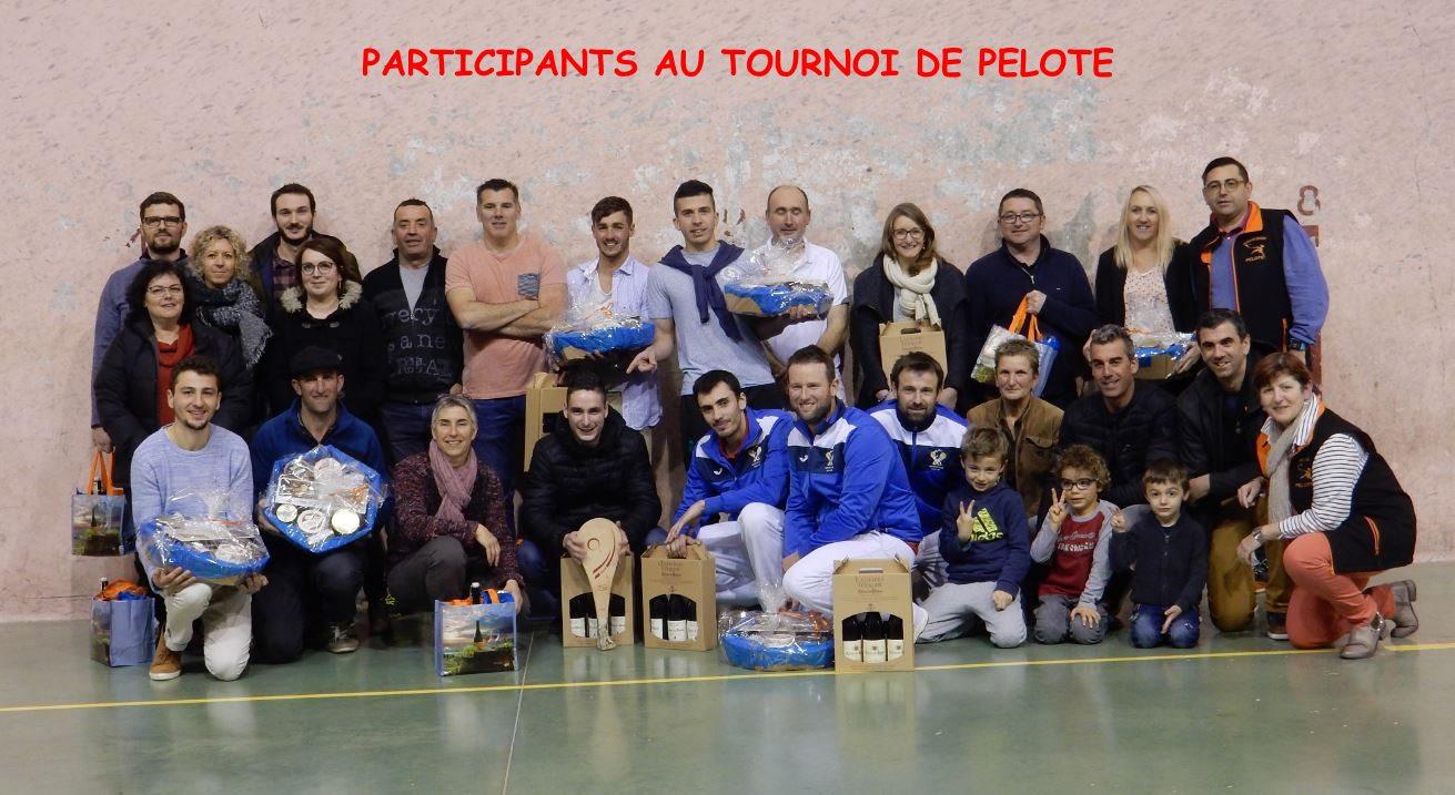 Participants tournoi pelote